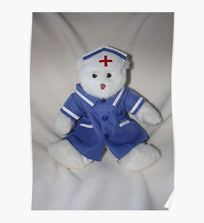Caring Teddy Nurse Poster