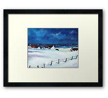 Snow at Balmedie Framed Print
