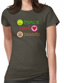 Peace-Love-Doggies Womens Fitted T-Shirt