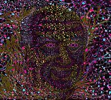 Albert Hofmann psychedelic portrait by Andrei Verner