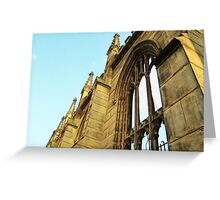 Roofless - Bombed Out Church - Liverpool Greeting Card