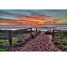 Daybreak - Newport Beach,Sydney Australia - THe HDR Experience Photographic Print