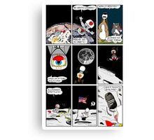 """Rick the chick  """"THE MAGIC SHELL (Un pulcino sulla luna) parte 18"""" Canvas Print"""