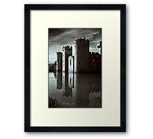 Bodiam Castle mono Framed Print