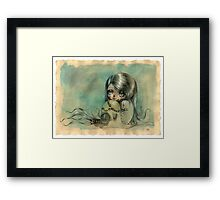 """You can play your videogames but please don't leave me"" Framed Print"