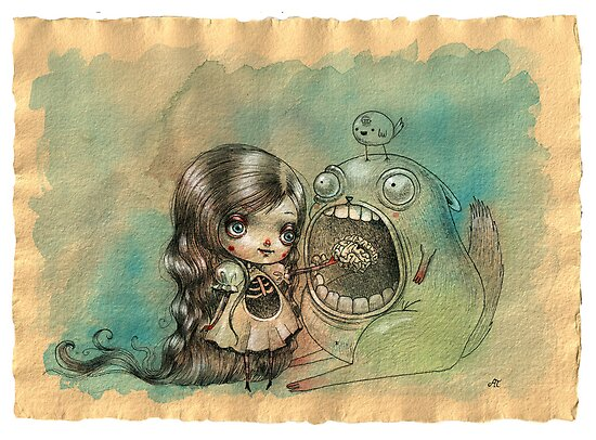 Feed your monster, he loves you by Ania Tomicka