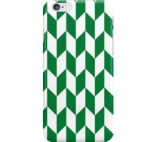 Green Thick Offset Chevrons iPhone Case/Skin