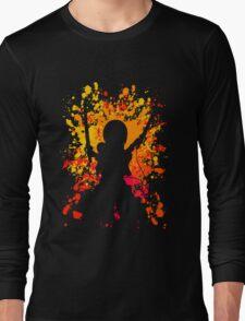 attack on titan mikasa ackerman paint splatter anime manga shirt Long Sleeve T-Shirt
