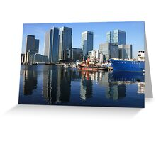 A true reflection of the Docklands Greeting Card