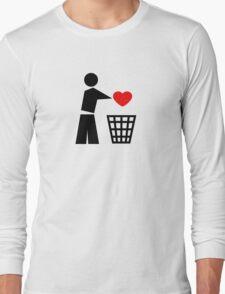 Bin your heart - red heart Long Sleeve T-Shirt