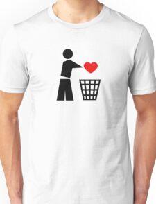 Bin your heart - red heart Unisex T-Shirt