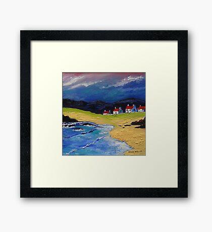 Houses on the Shore Framed Print