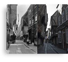100 years of The Shambles, York, England Canvas Print
