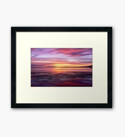 Golden Seam of a Sunset Framed Print