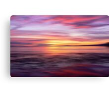 Golden Seam of a Sunset Canvas Print