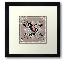 Stacked LOUBOUTIN with delicated LACE & SWIRLS  Framed Print