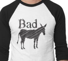 BAD ASS donkey funny design Men's Baseball ¾ T-Shirt