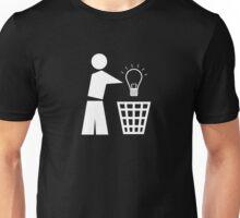 Bin your ideas - white Unisex T-Shirt