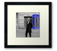 Doctor Who Mad Man In a Blue Box Framed Print