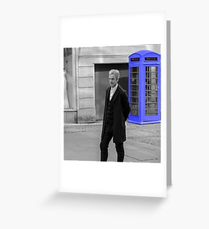 Doctor Who Mad Man In a Blue Box Greeting Card