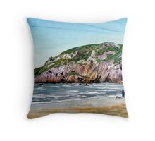 """Time to Ponder"" - Brean Down, Somerset Throw Pillow"