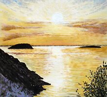 """""""Bay of Islands"""" - Steepholm & Flatholm, as seen from Brean by Timothy Smith"""