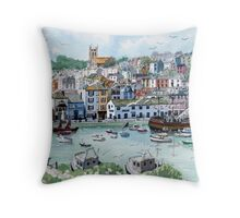 """In with the Catch"" - Brixham, Devon Throw Pillow"