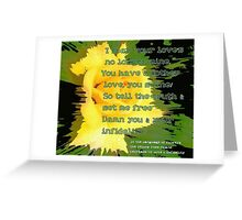 Infidelity - The Language Of Flowers Greetings Card Greeting Card