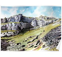 """The Calling Cliffs"" - Cheddar Gorge, Somerset Poster"