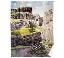 """Wild Sheep in Cheddar Gorge, Somerset"" Poster"