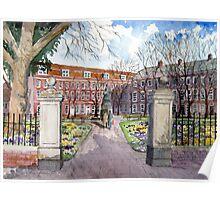 """""""Crocus Carpet"""" - King's Square, Bridgwater, Somerset Poster"""