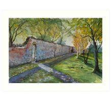 """""""Cross's Pen in Autumn"""" - Burnham-on-Sea, Somerset Art Print"""