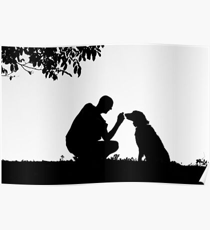 The man and his dog Poster