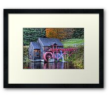 Guildhall Grist Mill Framed Print