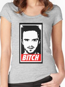 Breaking Bad Jessie Pinkman Obey Bitch Women's Fitted Scoop T-Shirt