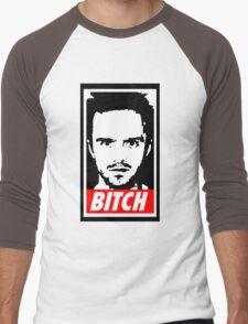 Breaking Bad Jessie Pinkman Obey Bitch Men's Baseball ¾ T-Shirt