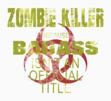badass zombie killer  Kids Tee