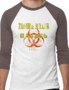 badass zombie killer  Men's Baseball ¾ T-Shirt