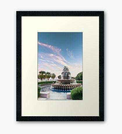 Pineapple Sunset Framed Print