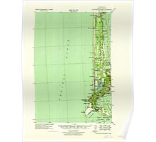 USGS Topo Map Washington Cape Disappointment 240331 1938 62500 Poster