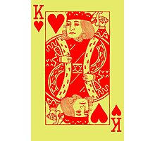 KING OF HEARTS-RED Photographic Print