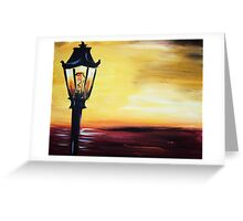 Sunset Post Greeting Card