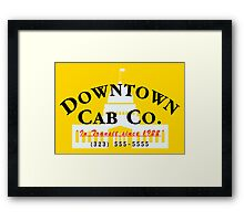 Downtown Cab Company Capitol Framed Print