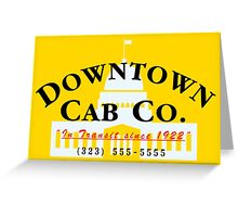 Downtown Cab Company Capitol Greeting Card