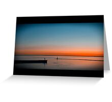 Going. Sunset. Greeting Card