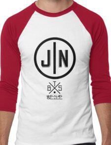 Jin - BTS Member Logo Series (Black) Men's Baseball ¾ T-Shirt