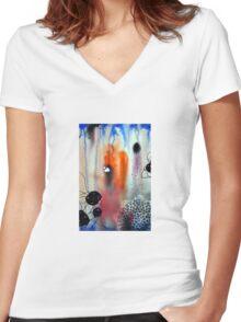 """Safari"" Women's Fitted V-Neck T-Shirt"