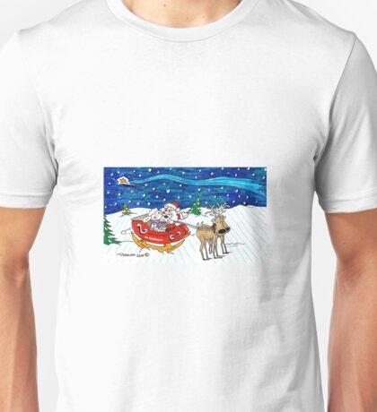 Sleigh Ride with Santa Unisex T-Shirt