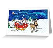 Sleigh Ride with Santa Greeting Card