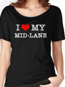 I Love My MID-LANE  [Black] Women's Relaxed Fit T-Shirt